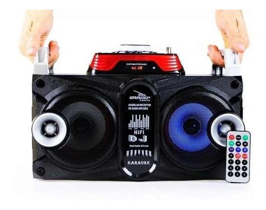 Caixa Som Amplificada Bluetooth 40w Led Dj Fm Usb Mp3 Preto