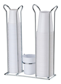 Porta Copos Descartáveis Água Café Suporte Mexedores 1153