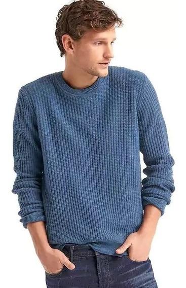 Sueter Gap Original Merino Wool Blend Azul Hombre Caballero