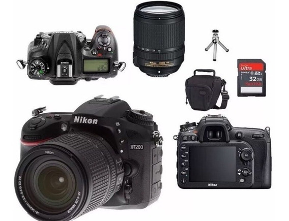 Nikon D7200 - Lente 18-140mm + Cartão 32gb+bolsa+mini Tripé