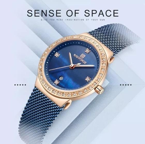 Relógio Feminino Naviforce Modelo 5005 - Azul
