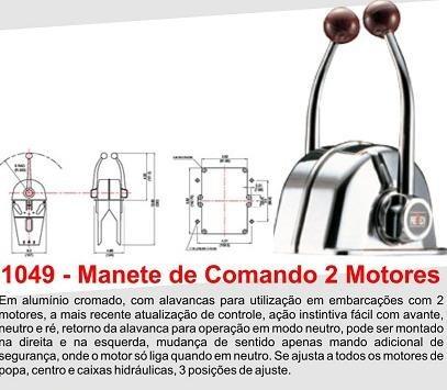 Imagem 1 de 2 de Manete De Comando 2 Motor - Cod 1049