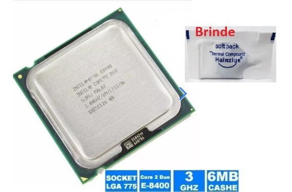 Intel® Core2 Duo Processor E8400 - 3.00ghz 1333 + Pasta