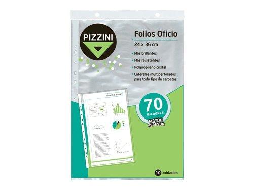 Folios Oficio X 10 U. 24 X 36 Cm 70 Mic. Pizzini 70fox10