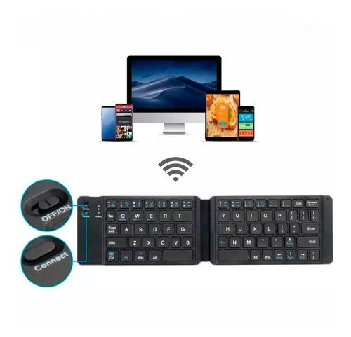 Mini Teclado Inalambrico Bluetooth Recargable Plegable -slim