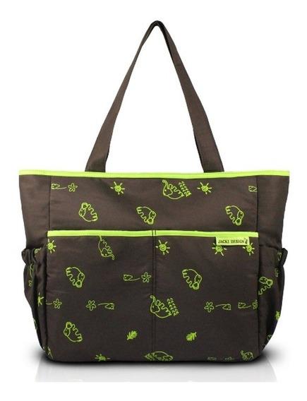 Jacki Design Bolsa De Bebê Estampada Cor Marrom E Verde