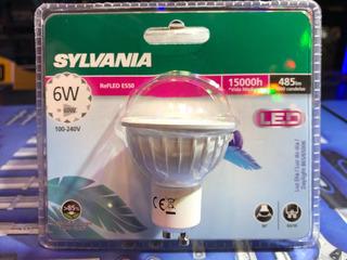 Lámpara Dicro Gu10 Sylvania 6w=60w Led 485 Lumens Fría