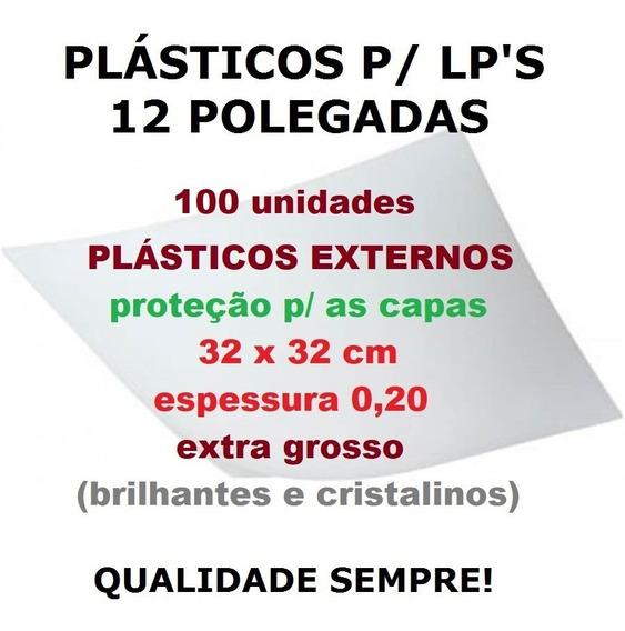 100 Plásticos 0,20 P/ Capa De Lp Discos Vinil - Extra Grosso