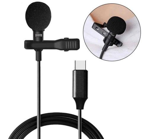 Imagem 1 de 7 de Microfone De Lapela Profissional Usb Tipo C
