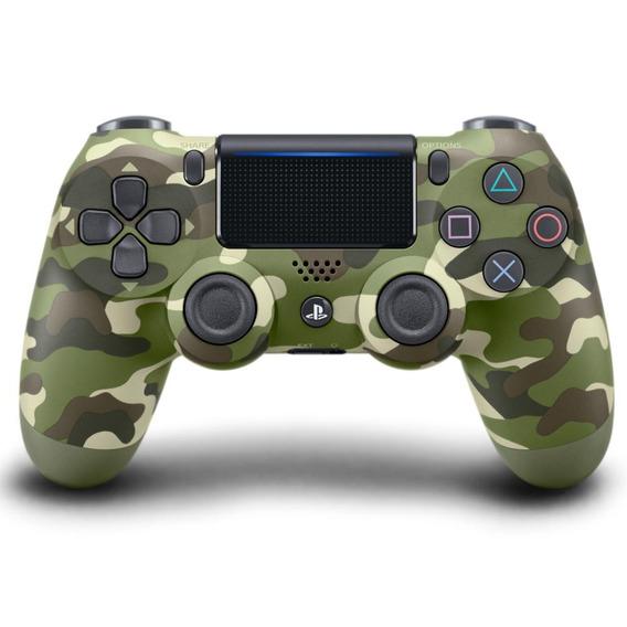 Controle Para Playstation 4 Sony Dualshock 4verde Camuflado