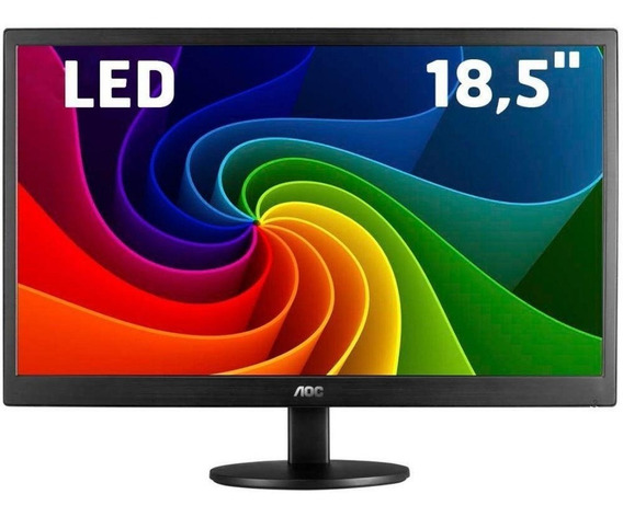 Monitor Led Aoc 18,5 Hd Widescreen E970swnl - Bivolt