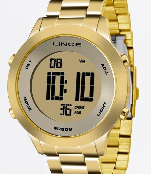 Relógio Lince Feminino Dourado Digital - Sdph037l Kxkx