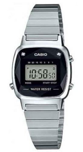 Relogio Casio La670wad-1df Digital Prata Com Diamantes
