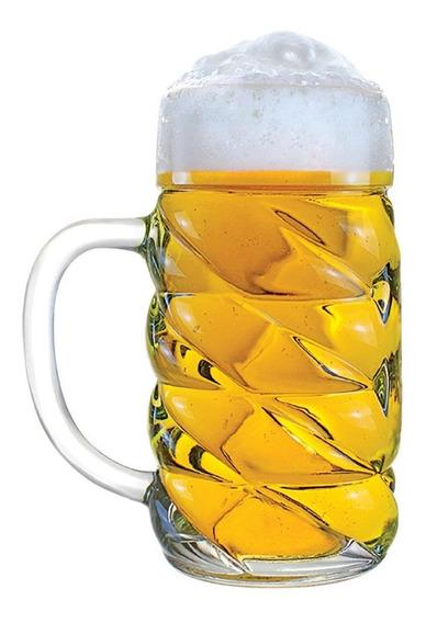 Caneca Chopp Cerveja - Mass Diamond G De Vidro 1 Litro