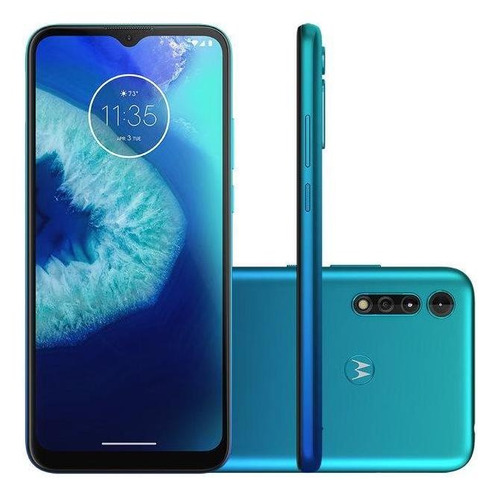 Smartphone Motorola Moto G8 Power Lite 64gb 6.5  - Azul Aqua