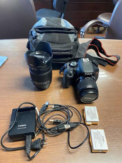 Canon Eos T3i Rebel + Lente Sigma Canon 18-250mm F/3.5-6.3