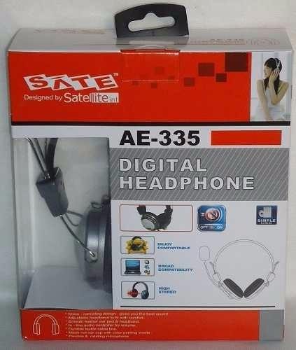 Head Fone Digital Gamer Com Microfone Satelite Sate Ae-335