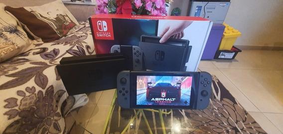 Nintendo Switch 32gb Com Jogos E Cartão Memória 64gb