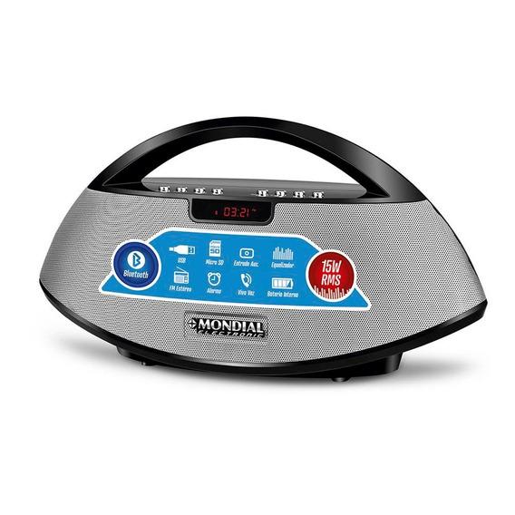 Caixa Som Rádio Fm Portátil Mondial Bluetooth Sk-01 15w
