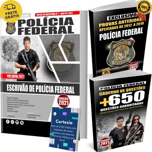 Kit Apostila Pf Escrivão Polícia Federal + Questões + Provas