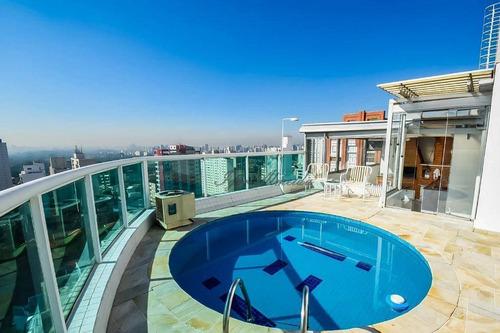 Imagem 1 de 30 de Cobertura Com 4 Dormitórios À Venda, 374 M² Por R$ 3.550.000,00 - Pinheiros - São Paulo/sp - Co1317