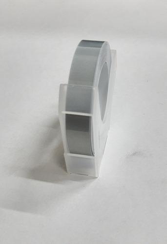 Imagen 1 de 1 de Cinta Para Rotuladora Motex 9mm X 3mt Plateada O Dorada