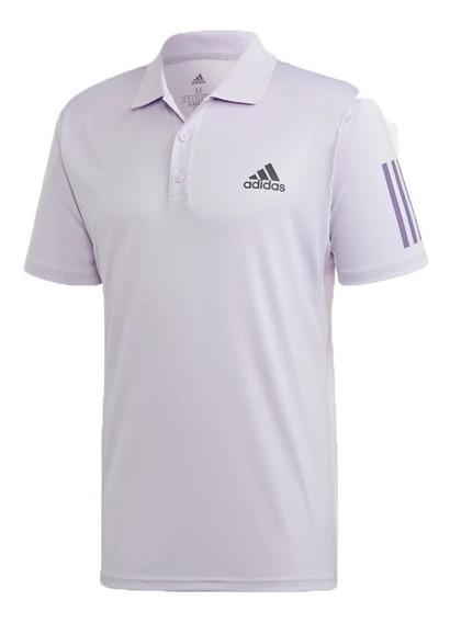 Chomba Tenis Padel adidas Club 3 Stripes Polo Remera Hombre