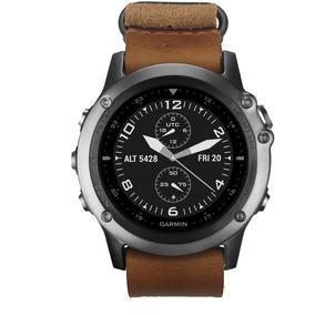 Relógio Esportivo Garmin Fenix 3 Safira Pulseira Couro Nato