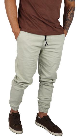 Kit 3 Calça Masculina Jeans Sarja Jogger Com Punho Elastico