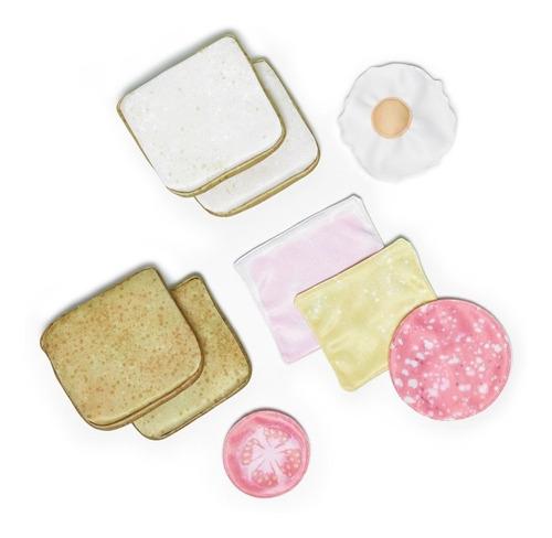 Comidita Comida De Tela Cocina Infantil Niños Sandwich X 2