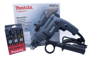 Rotomartillo Makita Taladro 5/8 M0801g Con Juego De 9 Brocas