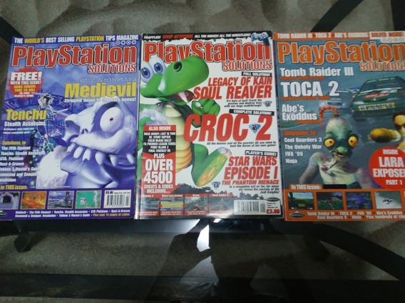 Playstation Solutions Lote 3 Revistas Americanas
