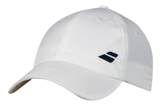 Gorra Adulto Tenis Babolat Basic Logo Cap Blanca Azul Rosada