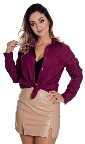 Camisao Xadrez Pied Poule Feminina - Pimenta Rosada