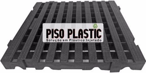 Kit 05 Pc Tapete Plastic 4,5x40x40 Cm Cor Preto Banheiro Box