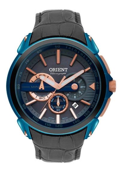 Relogio Masculino Orient Mtscc028 G1gx Couro Azul