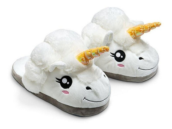 Pantuflas Unicornio Mujer Hombre Niños Cute Kawaii Zapatos