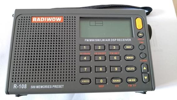 Rádio Digital Radiwow R-108 Banda Aviação Aviao