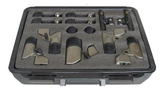 Microfones Csr Sxds7 P/ Bateria Percussão C/ 7 Microfones