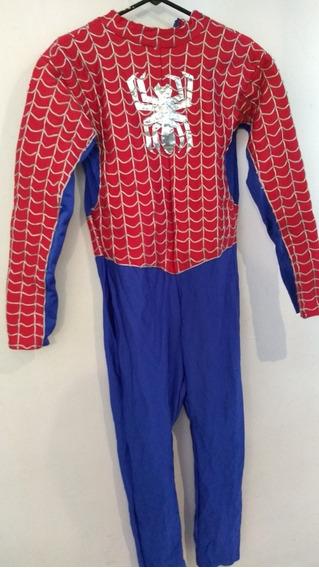 Disfraz De Spiderman Rojo, Hombre, Talla Chico- Mediano.