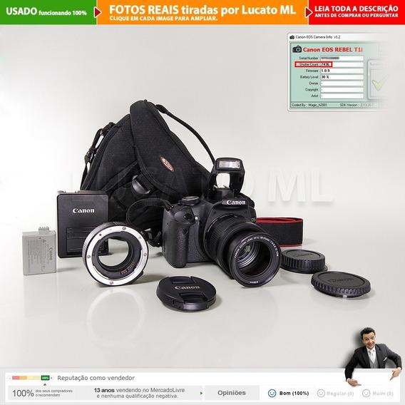 Canon T1i 7.5k Clicks + 18-55mm Is Stm +tubo Macro +bolsa 1b