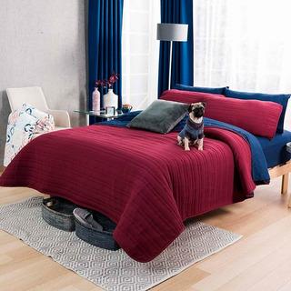 Edredon Ligero Basic Tinto King Size Vianney Doble Vista