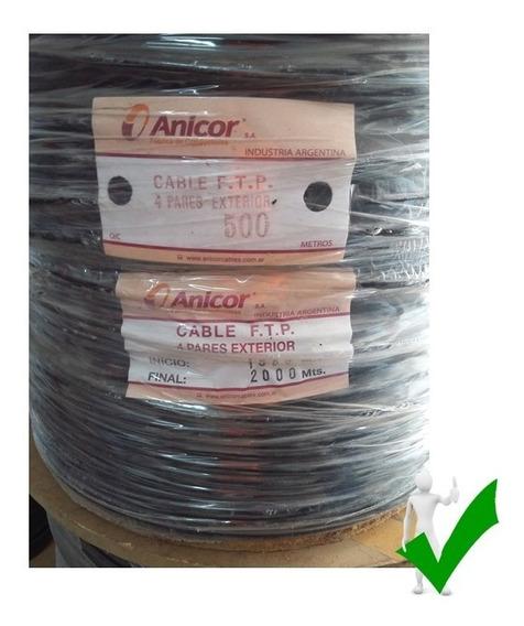 Bobina 500 M Cable Ftp Exterior Blindado Subterráneo 4 Pares