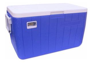Caixa Térmica 48qt - 45,4l Azul Coleman Com Termômetro