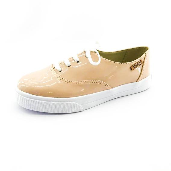 Tênis Quality Shoes Feminino 005 Verniz Nude