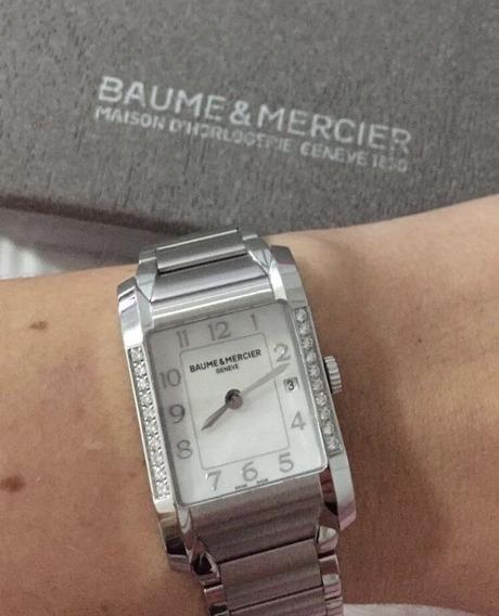 Relógio Baume & Mercier Suiço Feminino C Diamantes E Nf