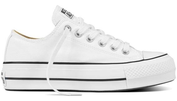 Converse All Star Plataforma Blancos, Nueva Colección!