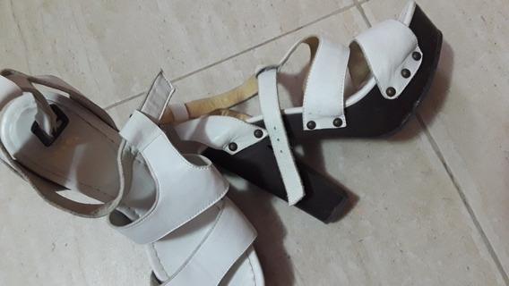 Zandalias Blancas Cuero