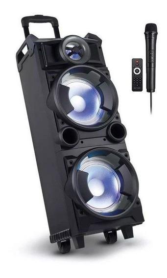 Caixa De Som Torre Double 8 Bt Fm Usb 300w Multilaser Sp282