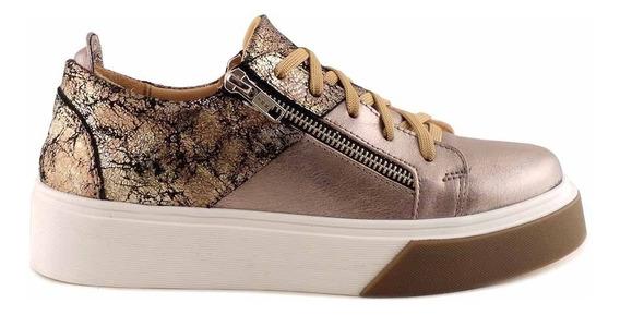 Zapatilla Mujer Cuero Briganti Urbana Moda Sneaker Mczp05244